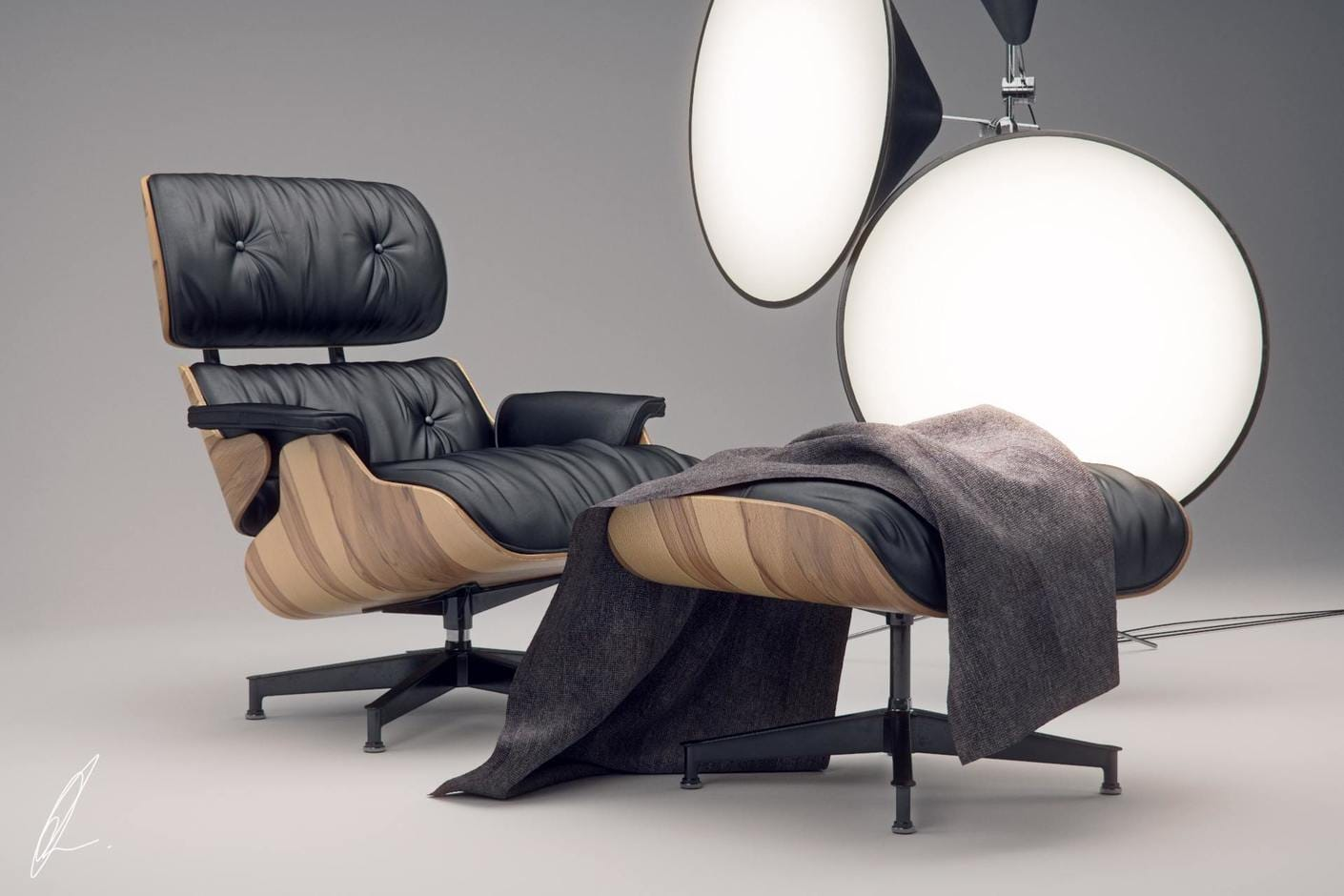 Eames Lounge Chair Jonathan Evans Chaos Group