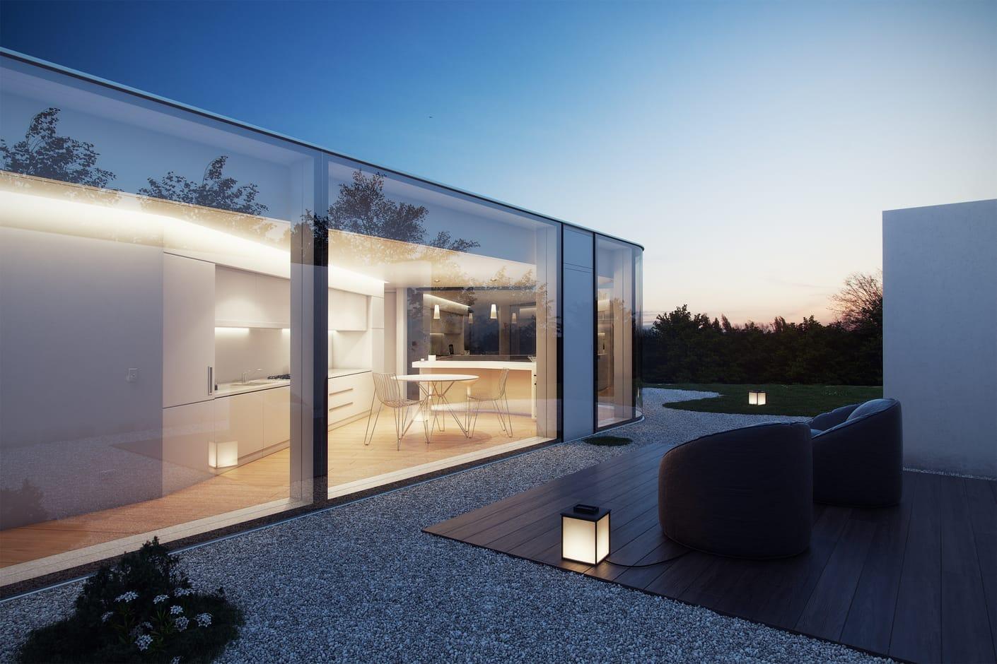 Lake lugano house david santos chaos group for Architecture minimale