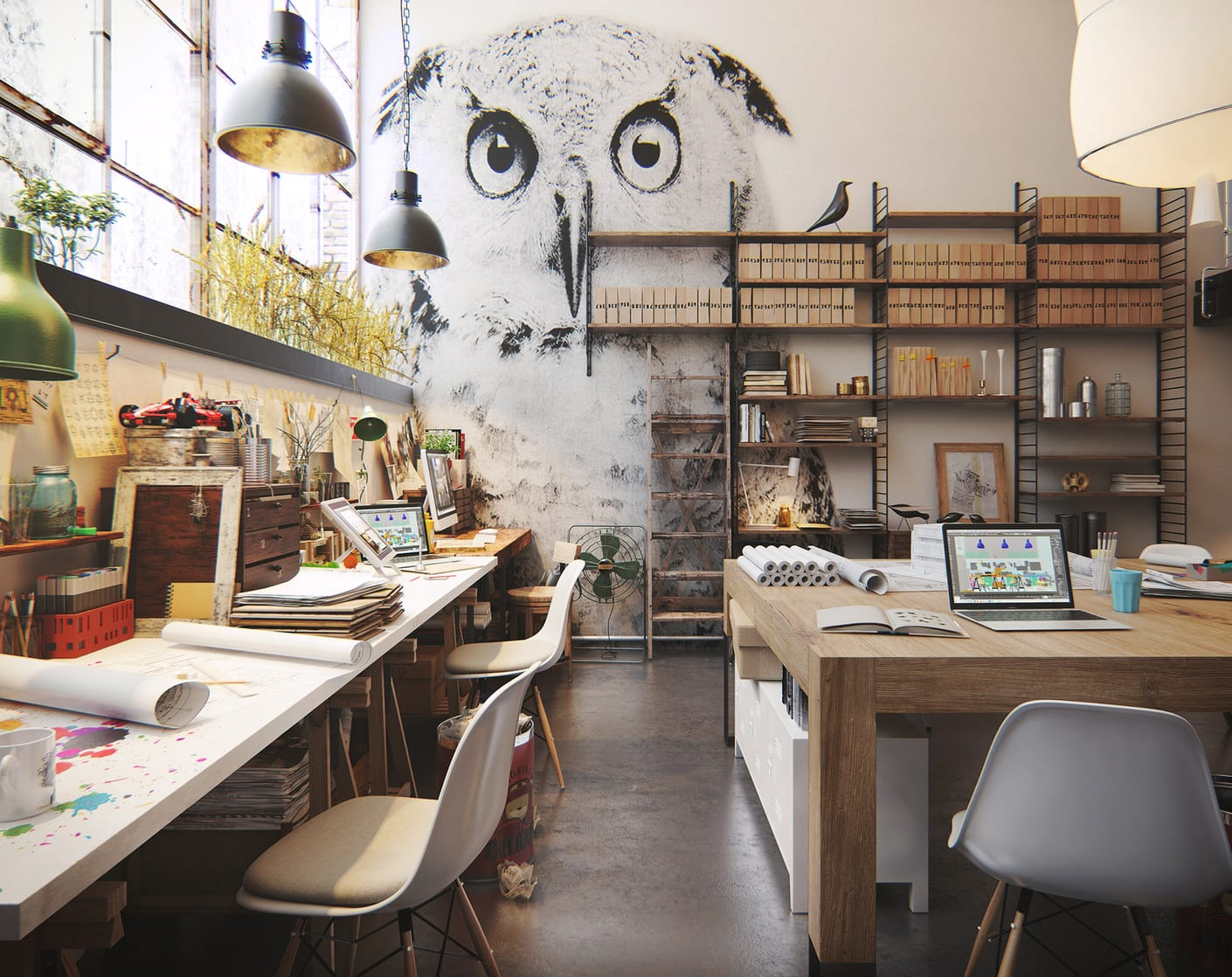 Design Home Office Layout Studio Atng Chaos Group