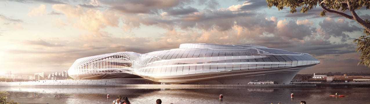 Flying architecture augmented xpo architecture vray rhino.