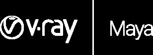 V ray maya logo white