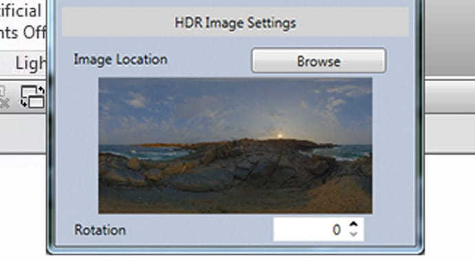 Imagem de Importação HRD V-ray para Revit