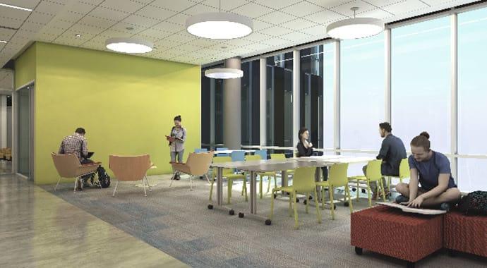 Imagem de renderização interior com IES VRAY para Revit