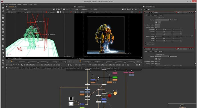 V-Ray for NUKE Ray Traced Rendering