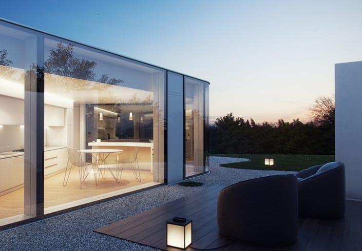 Lab visualizacion lake lugano house architecture vray sketchup 01