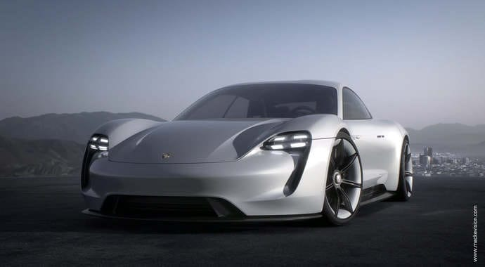 Mackevision porsche mission e automotive vray 3ds max 02