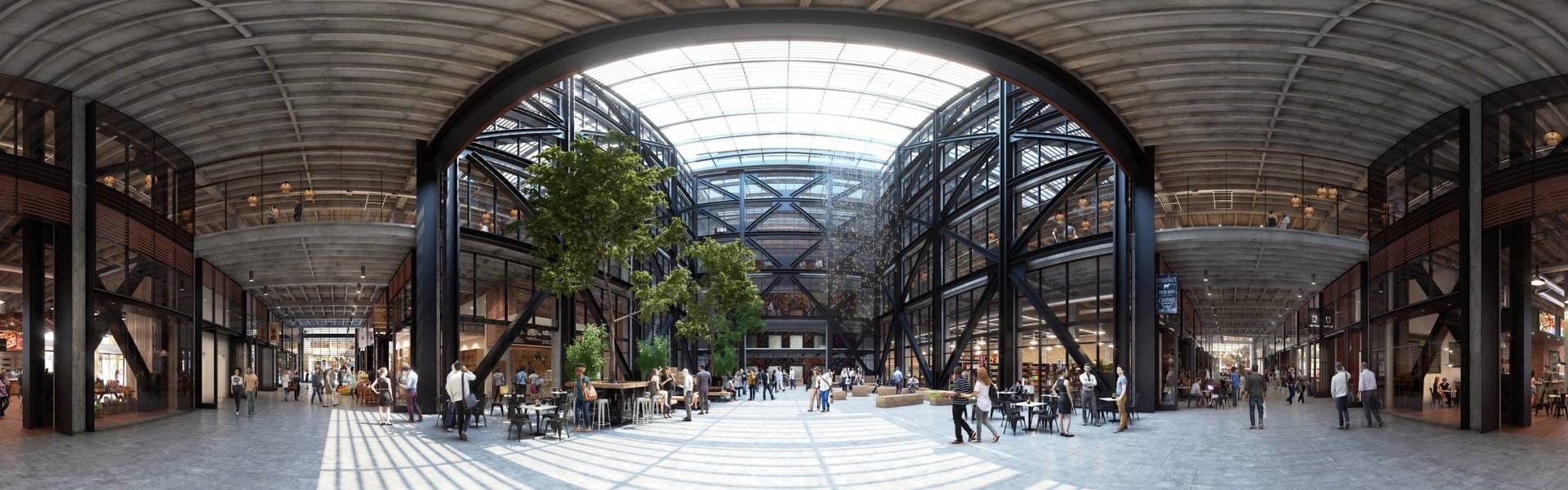 Steelblue atrium 360 architecture vray 3ds max