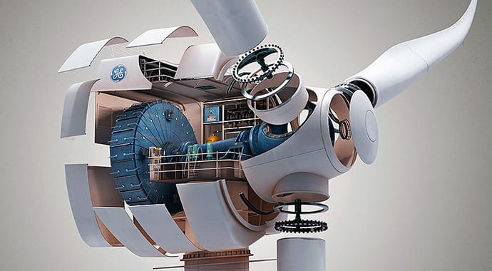Kollected ge windmill design vray maya