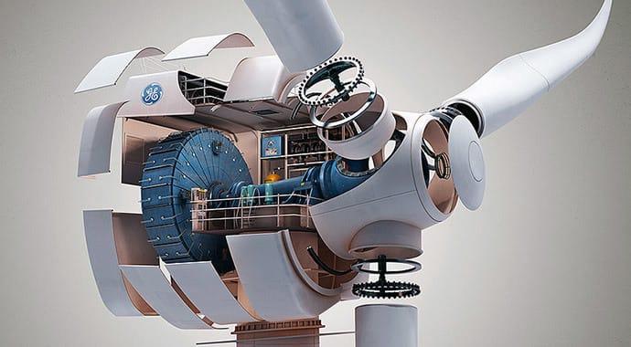 Kollected ge windmill design vray maya