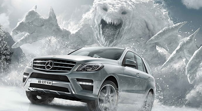 Mackevision mercedes snow monster automotive vray 3ds max thumb
