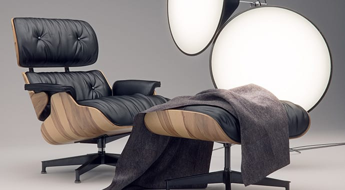 Jonathan evans eames chair interior design vray 3ds max thumb