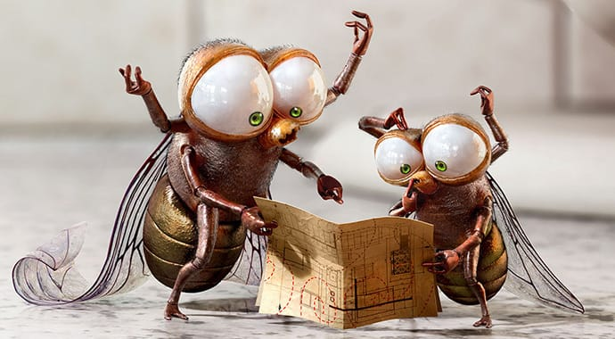 Zombie studio clorox mosquitoes advertising vray 3ds max thumb