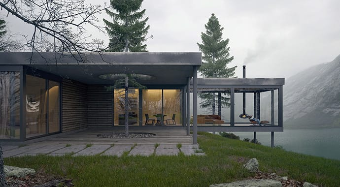 Kaiserbold weekend retreat architecture vray 3ds max 02 thumb