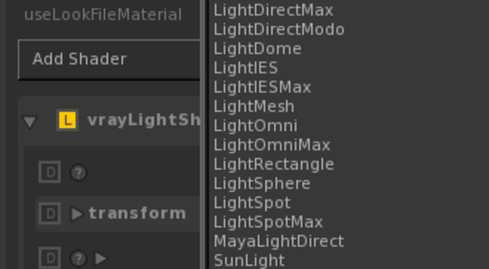 V-Ray for KATANA Light Types