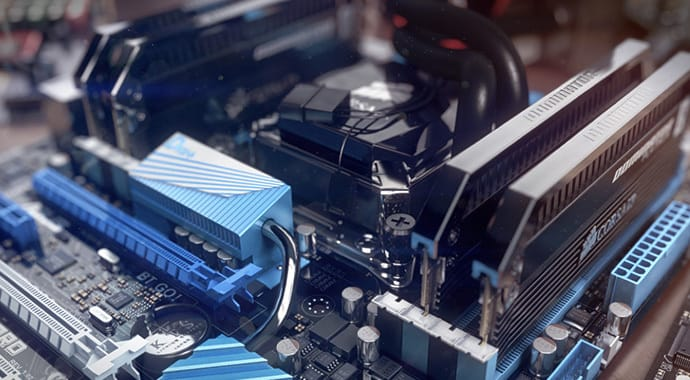 V-Ray for 3ds Max Motherboard Product Design