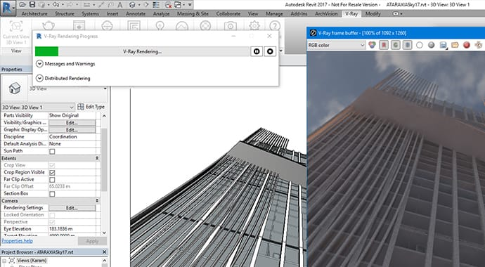 V-Ray for Revit Interactive Rendering