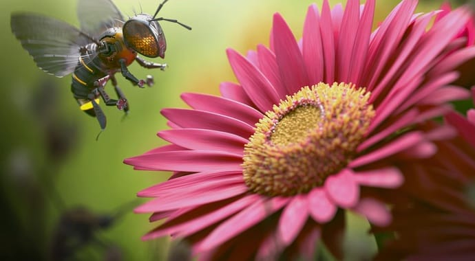 V-Ray for 3ds Max Bee Over Flower