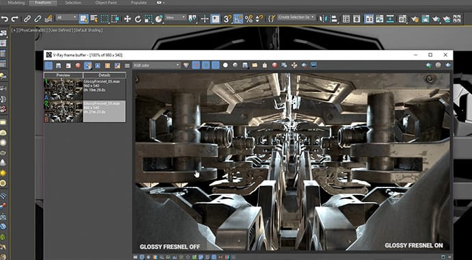 V-Ray for 3ds Max Glossy Fresnel