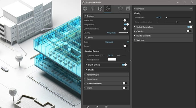 V-Ray for Sketchup UI