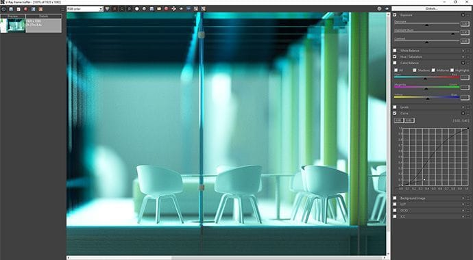 V-Ray for SketchUp Frame Buffer