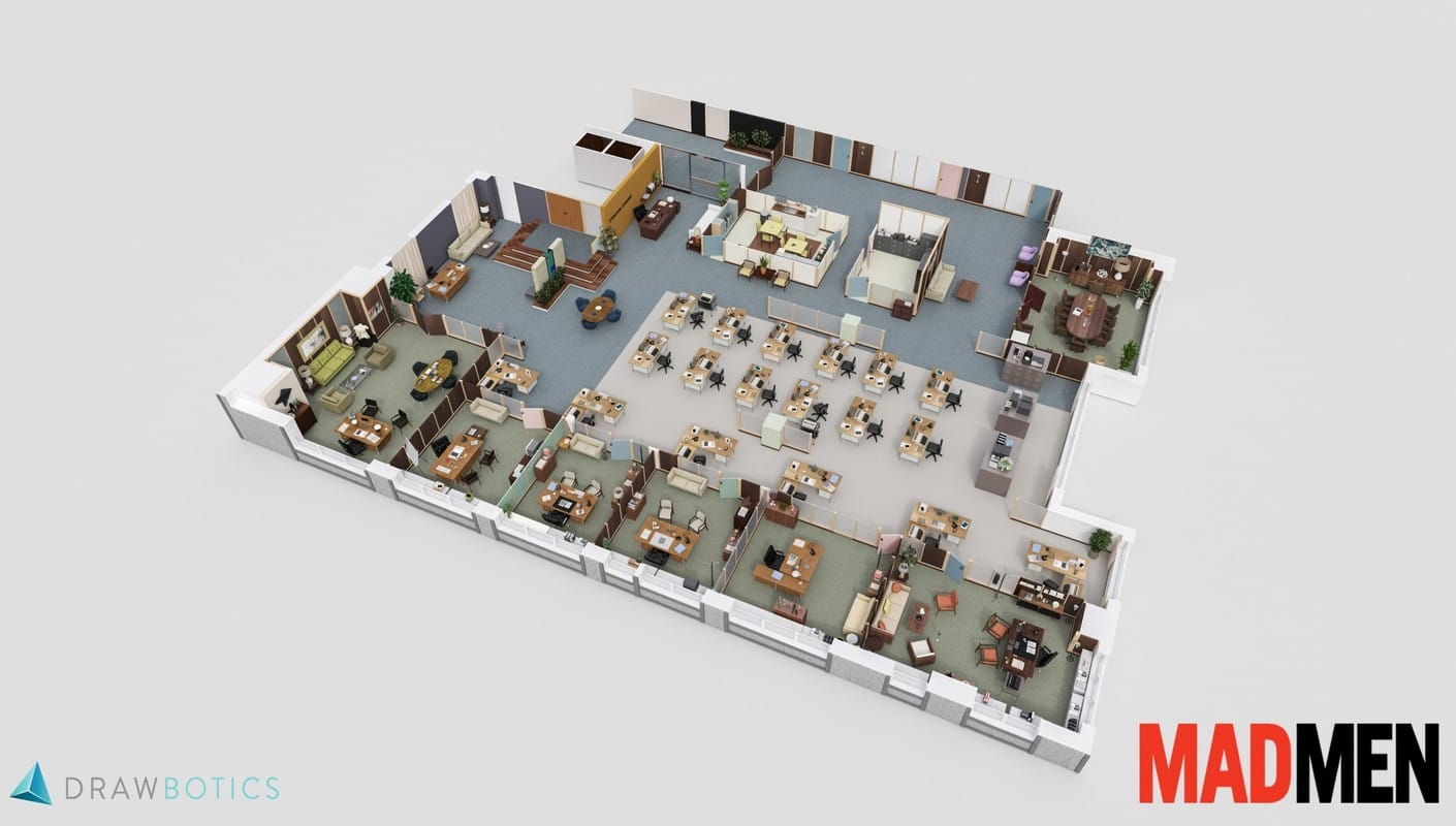 Drawbotics Floor Plan Mad Men