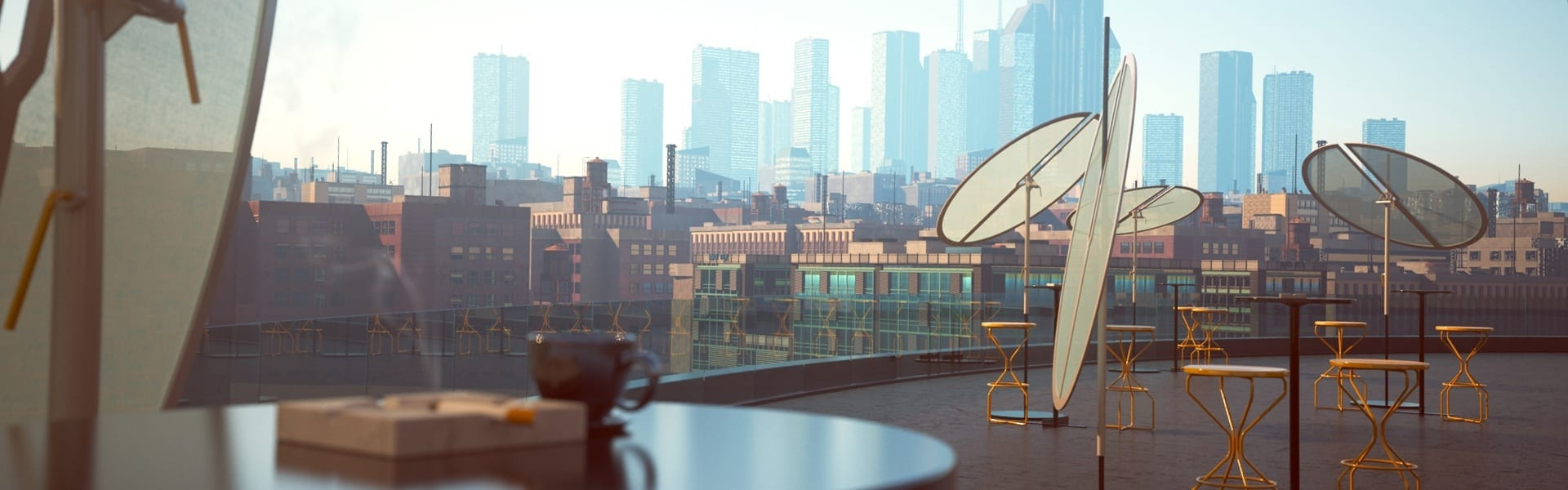 Rooftop City Landscape V-Ray for 3ds Max