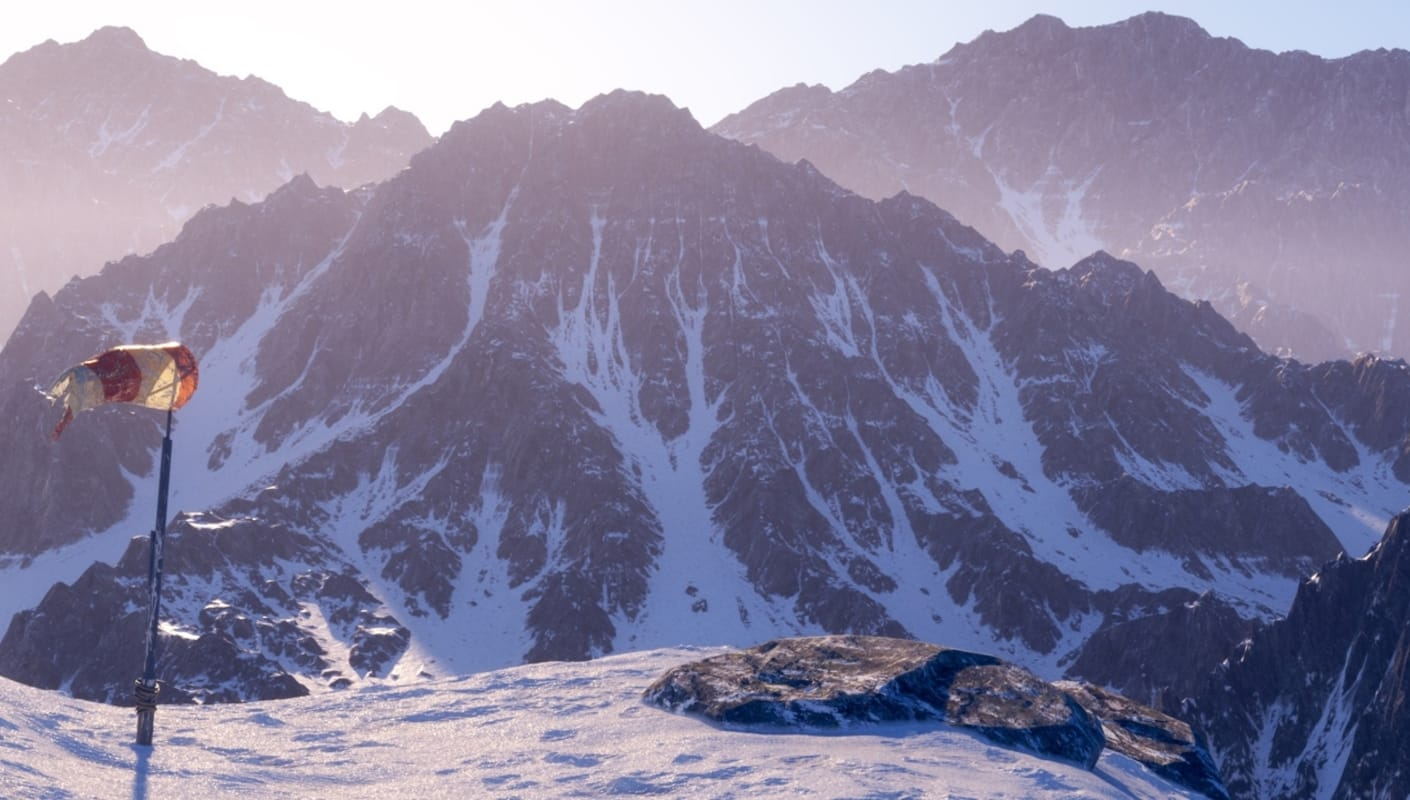 V-Ray rendered mountains