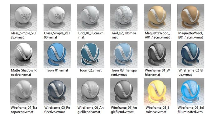 V-Ray for Rhino Material Library