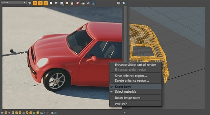 V-Ray for MODO Material Selection