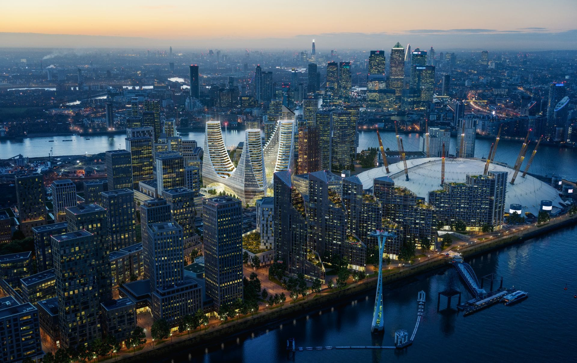 Greenwich Peninsula Place Santiago Calatrava Uniform