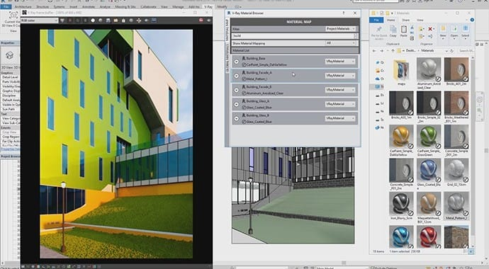 V-Ray for Revit Material Library