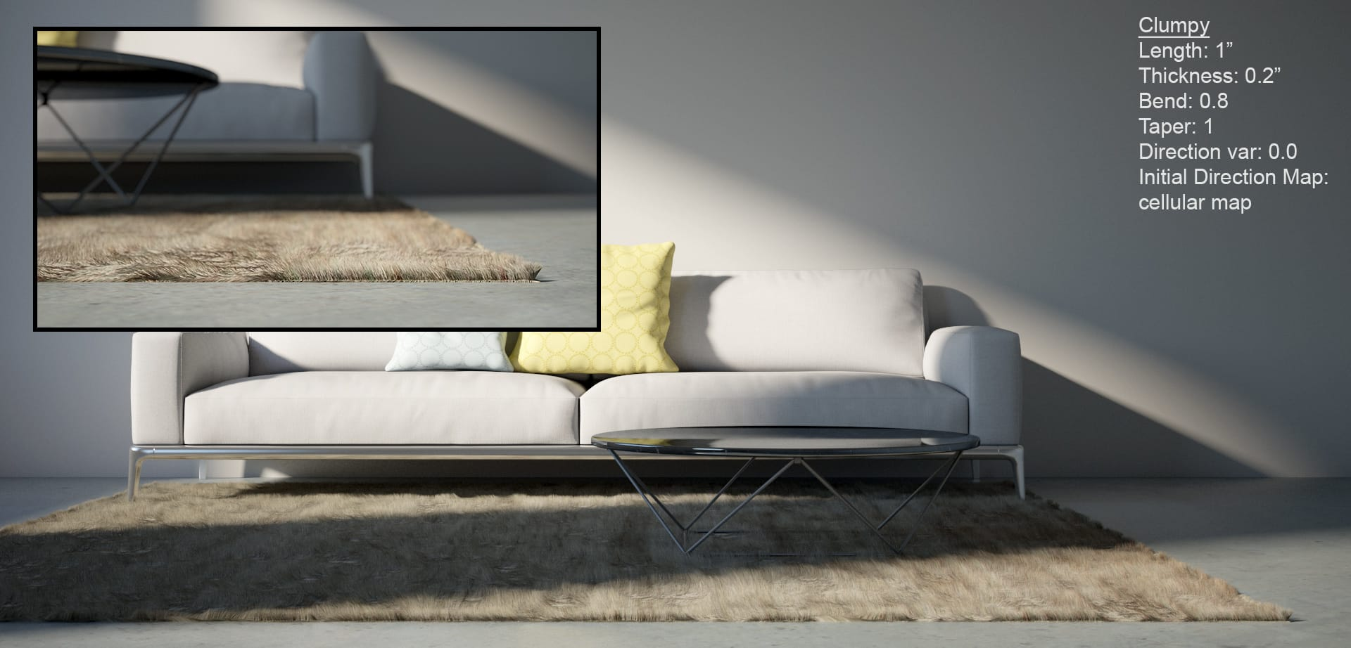 Creting rugs with V-Ray
