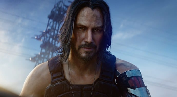 Actor Keanu Reeves in Cyberpunk 2077