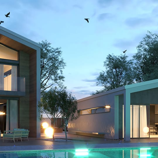 V-Ray for SketchUp arch-viz exterior render by Moshe Shemesh