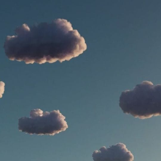 Little fluffy clouds against a blue sky